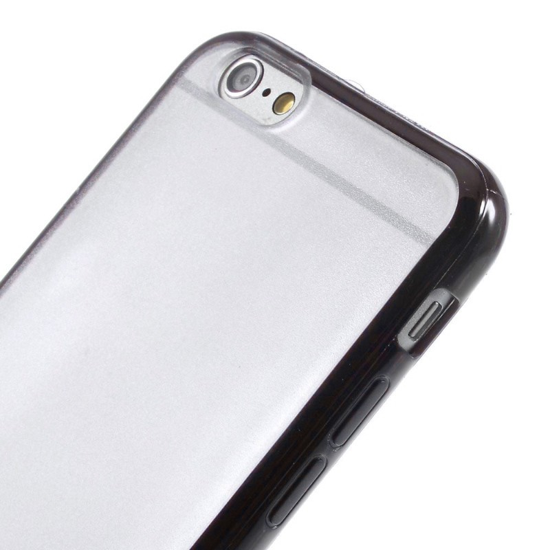 Průhledný kryt pro iPhone 6/6s s černým rámečkem