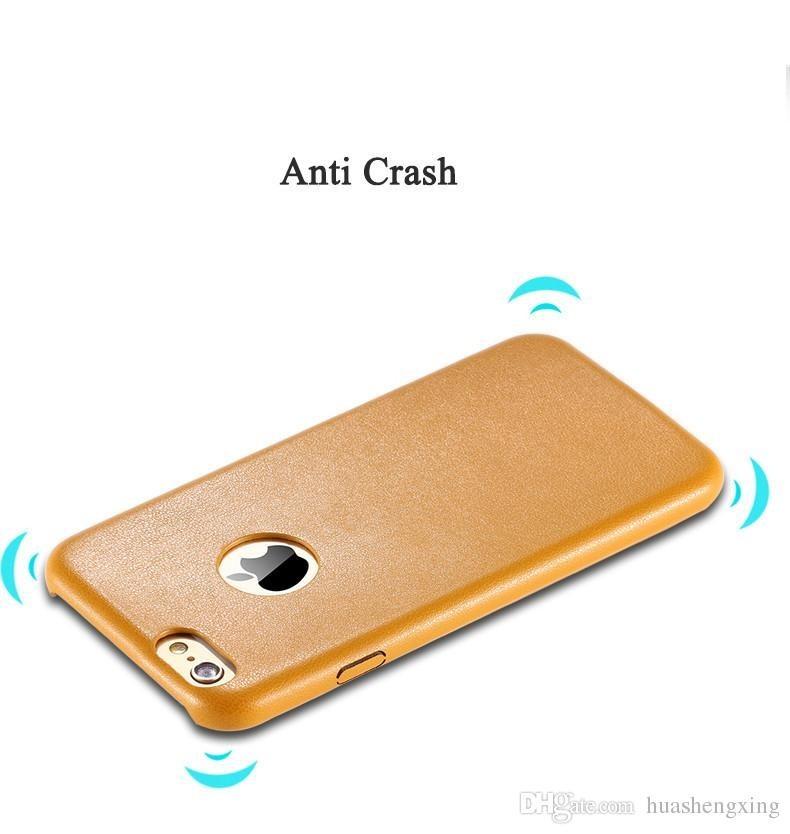Ultratenký kožený kryt pro iPhone 6/6s hnědý