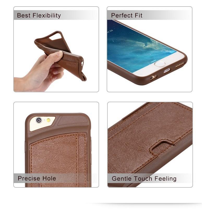 Silikonový kryt pro iPhone 6/6s hnědý