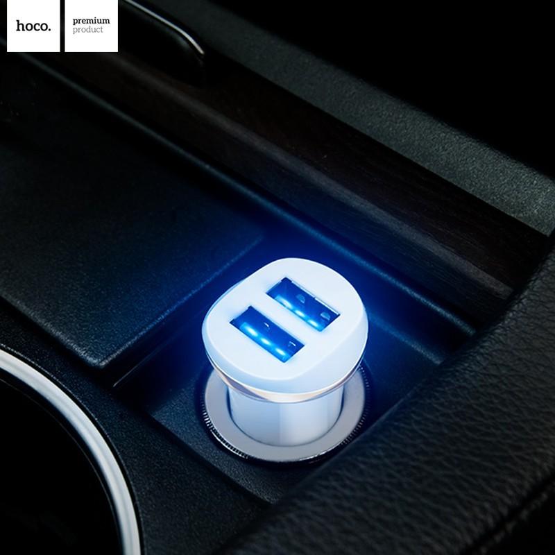 HOCO autonabíječka s dvěma USB porty 2,1A