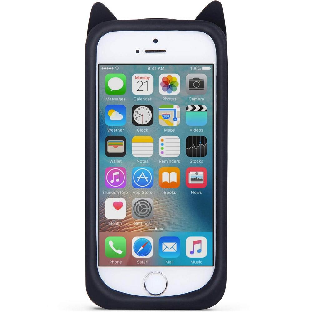 Silikonový kryt Kočka pro iPhone 5/5S/5SE