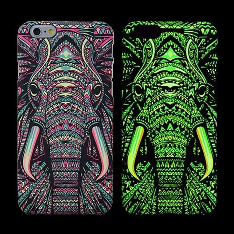 Svítící kryt LUXO pro iPhone 6/6s Slon