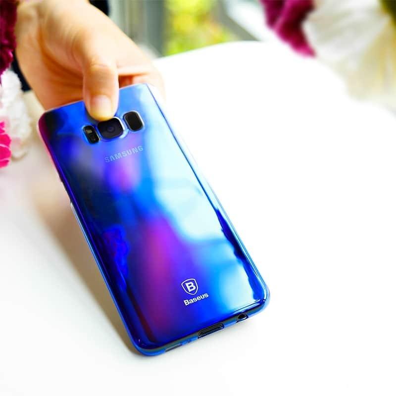 BASEUS Glaze lesklý průhledný kryt pro Samsung Galaxy S8