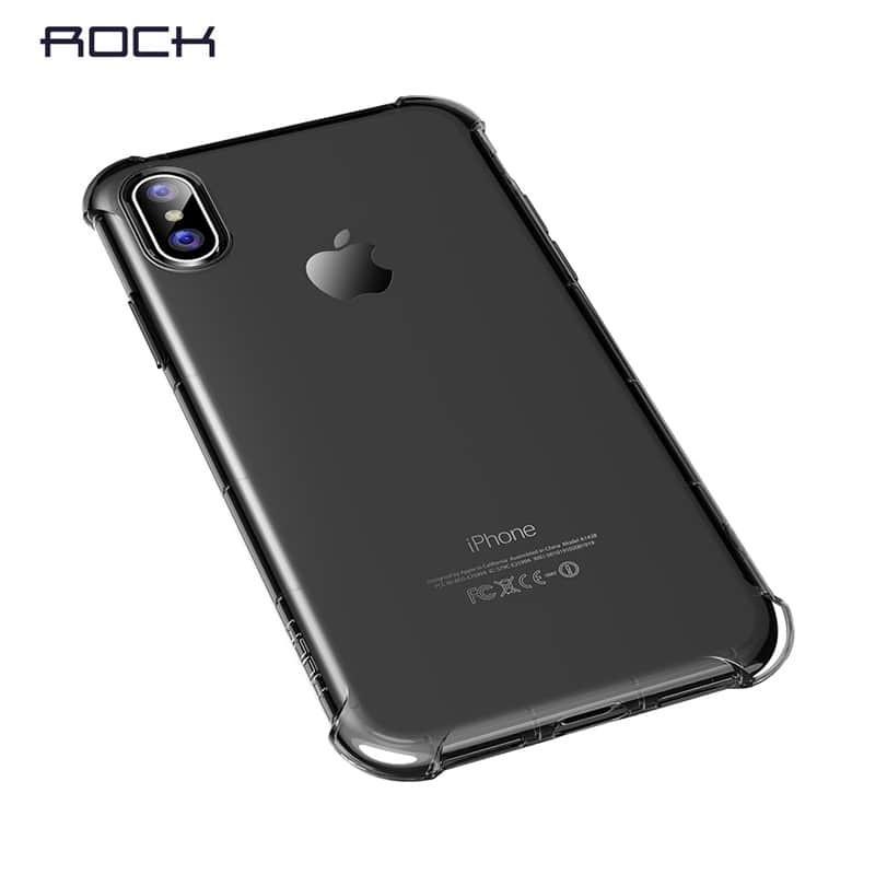 Transparentní kryt na iPhone XS/X Rock Fence S Series, černý
