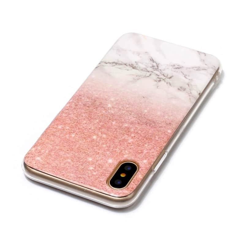 Silikonový kryt na iPhone XS/X Mramorový vzor 1