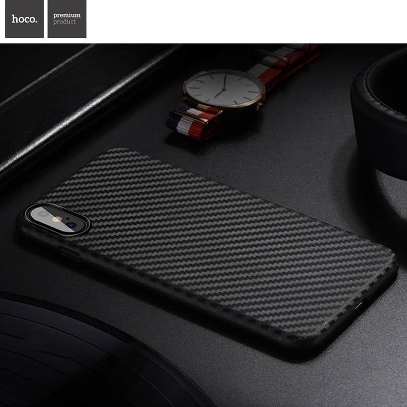 Kryt HOCO Carbon Fibre Ultratenký pro Apple iPhone XS/X,  černý