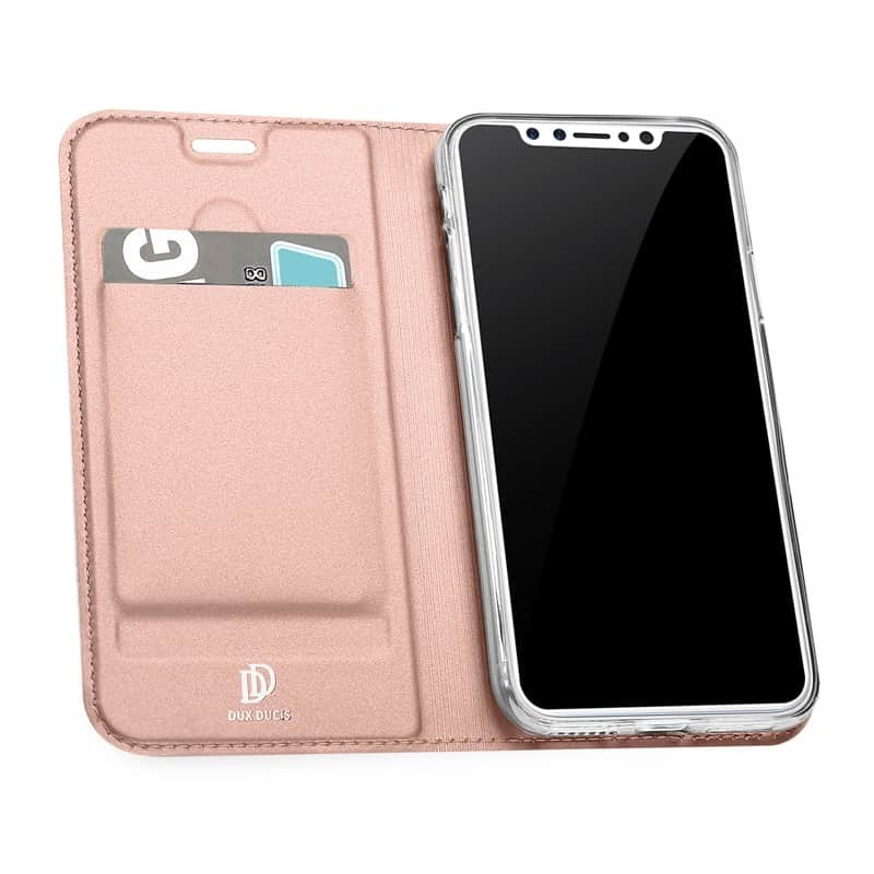 Luxusní pouzdro na iPhone XS/X DUX DUCIS Skin Pro Series, růžové