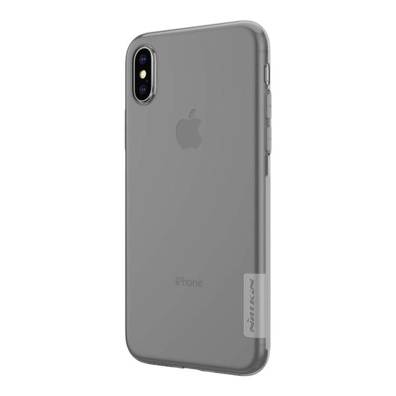 Pouzdro Nillkin Nature TPU pro iPhone XS/X tmavé