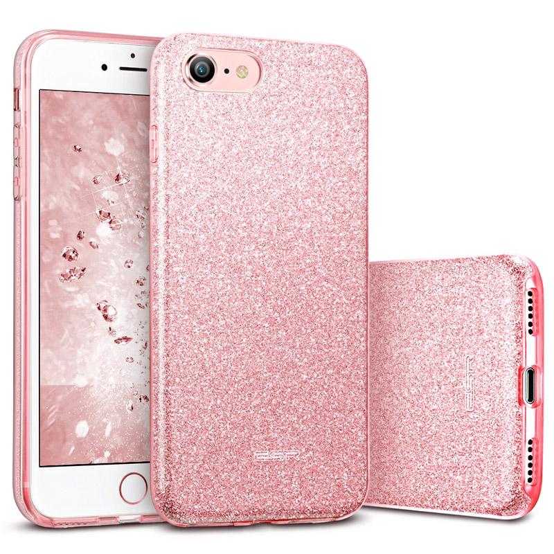 ESR Makeup Glitter pouzdro pro iPhone 7/8 růžové