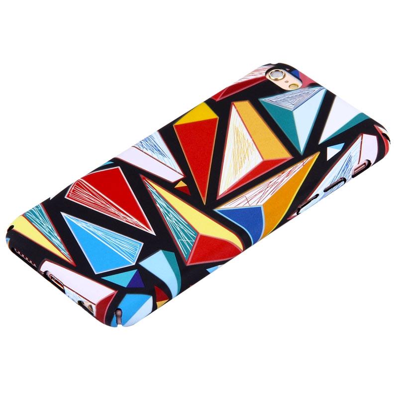 Kryt pro iPhone 6/6s barevné trojúhelníky