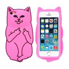 Silikonový kryt Kočka pro iPhone 6/6s