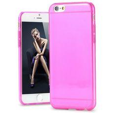 Silikonový průhledný kryt pro iPhone 6/6s světle růžový