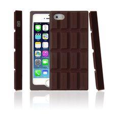 Silikonový 3D kryt pro iPhone 5/5s Chocolate Dark