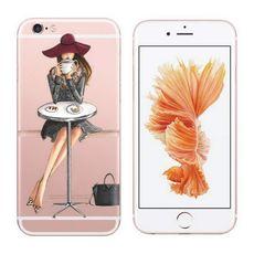 Průhledný kryt pro iPhone 6/6s se siluetou ženy 1