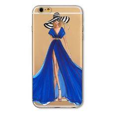 Průhledný kryt pro iPhone 6/6s se siluetou ženy 2