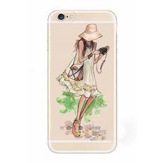 Plastový kryt pro iPhone 6/6s se siluetou ženy 1