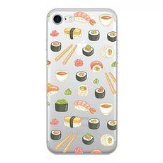Siikonový stylový kryt pro iPhone 7/8 sushi