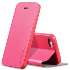 Flipové pouzdro X-level pro iPhone 5/5S/SE růžové
