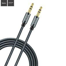 HOCO propojovací AUX kabel 3.5 mm - 1 m - černý