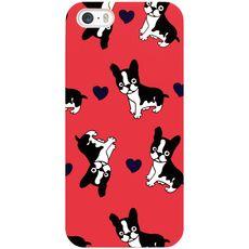 Plastový kryt pro iPhone 5/5s Pes Boston Terrier