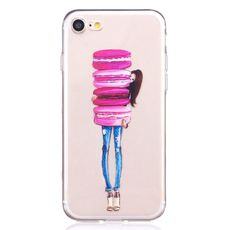 Kryt pro iPhone 7/8 Girl with macarons