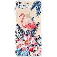 Silikonový kryt pro iPhone 7/8 flamingo flowers