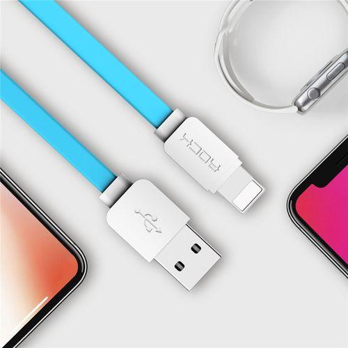 ROCK datový kabel Lightning pro iPhone, 1m, modrý