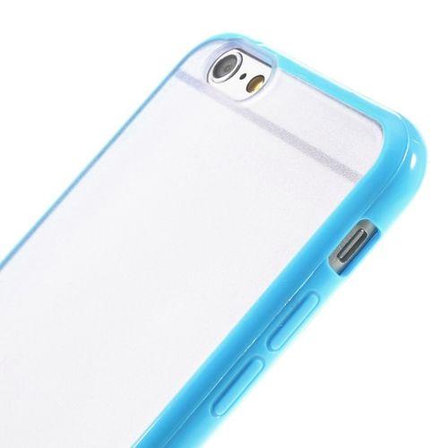 Průhledný kryt pro iPhone 6/6s s modrým rámečkem