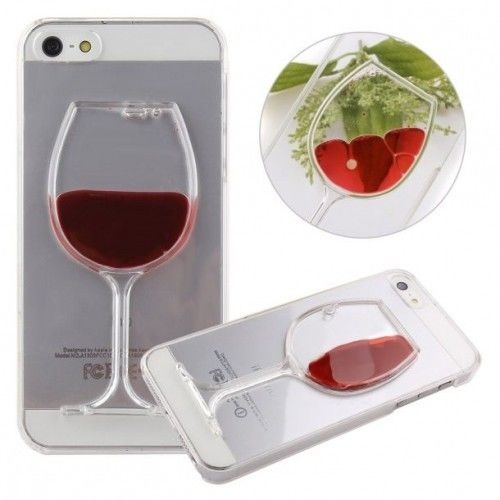 3D Kryt Sklenice červeného vína  pro iPhone 6/6s