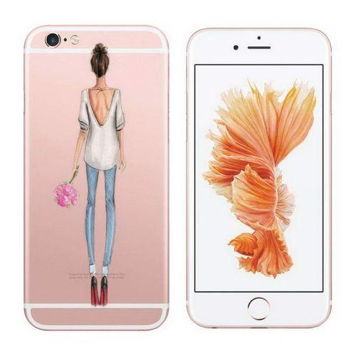 Průhledný kryt pro iPhone 7/8 se siluetou ženy 1