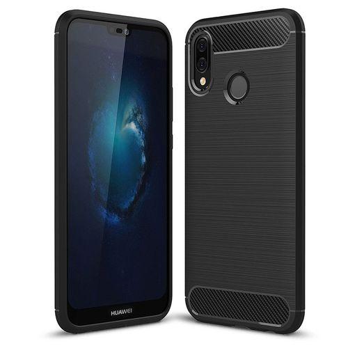 Pouzdro Carbon Brushed na Huawei P20 Lite, černé