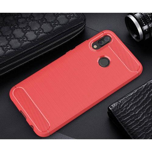 Pouzdro Carbon Brushed na Huawei P20 Lite, červené