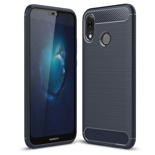 Pouzdro Carbon Brushed na Huawei P20 Lite, modré