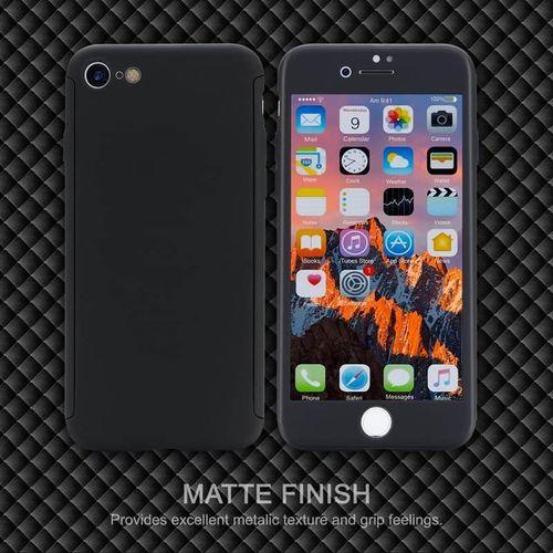 Kryt 360 Soft Touch pro iPhone 7/8 černý + tvrzené sklo na displej