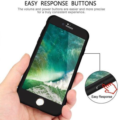 Kryt 360 Soft Touch pro iPhone 6/6s černý + tvrzené sklo na displej
