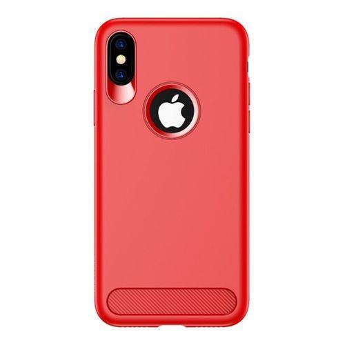 Luxusní kryt na iPhone XS/X USAMS Muze Series, červený