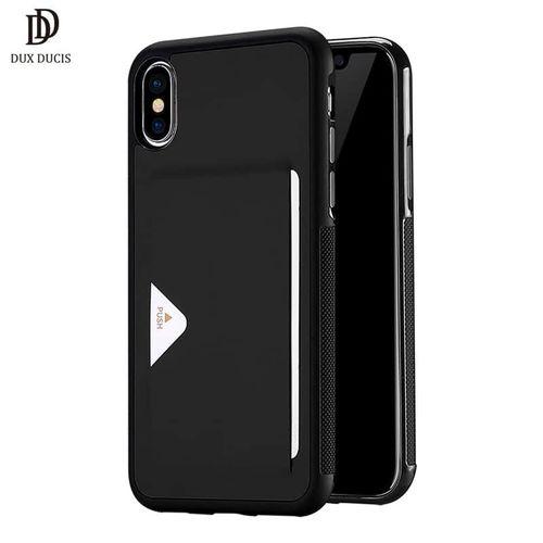 Luxusní pouzdro na iPhone XS/X DUX DUCIS Pocard Series, černé