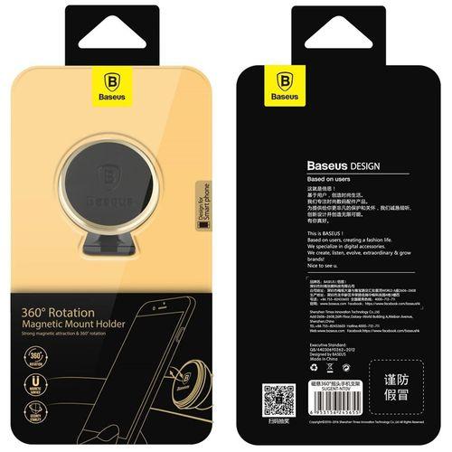 Baseus 360° magnetický držák mobilního telefonu, lepící, zlatý