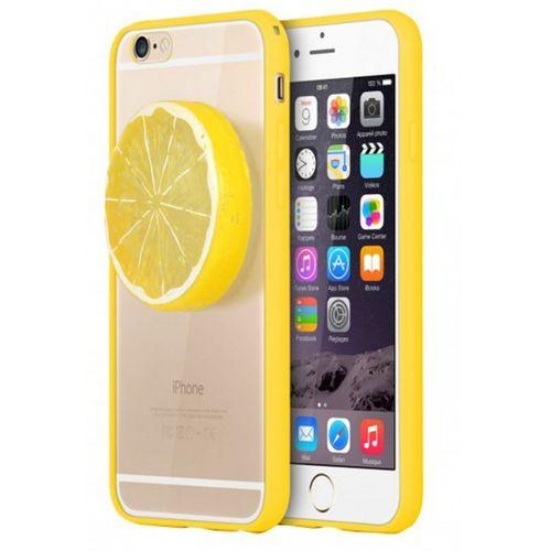 Kryt 3D citron pro iPhone 6/6s se žlutým rámečkem